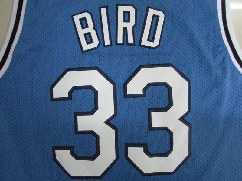 Herren Indiana State Sycamores Larry Bird College Basketball-Trikots # 33 New Valley High School Larry Bird genäht Gelbe rote Hemden