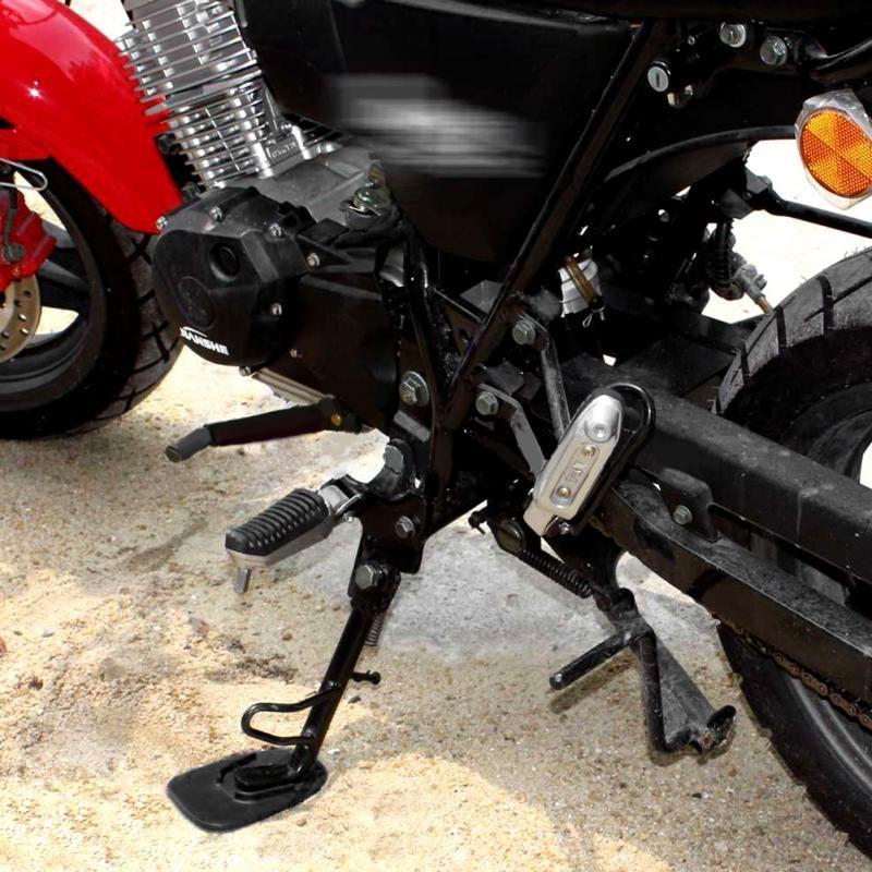 Pata de cabra de la motocicleta Soporte lateral del pie Almohadilla de extensión Placa de soporte Placa base del soporte