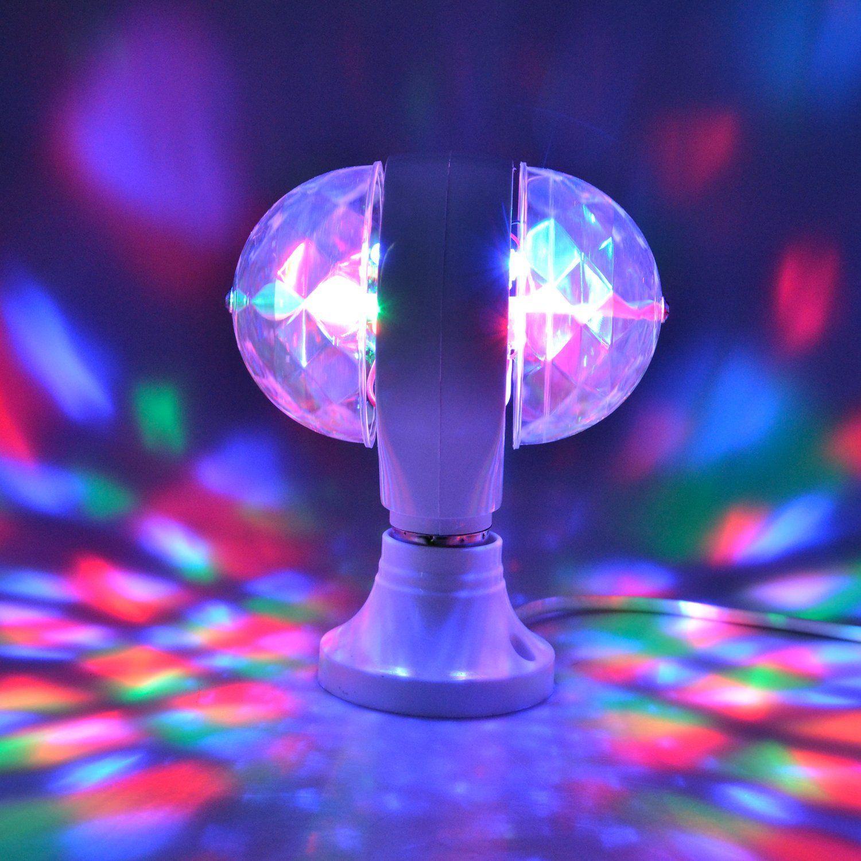 Mini Strobe Bulb Lamps LED DJ Stage Light RGB Full Color Home Party Auto Rotating Magic Effect Lights
