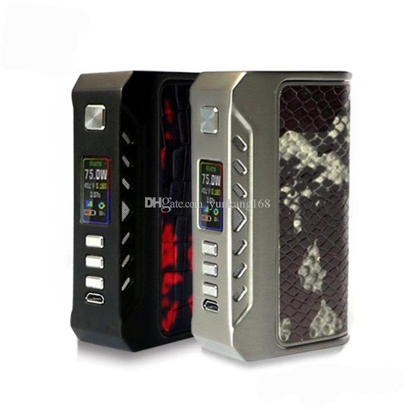 Orijinal Düşünüyorum vape Bulucu 75C 75 W kutusu mod Thinkvape kutusu mod Çift 18650 pil Evolve DNA75C 2 Renkler DHL