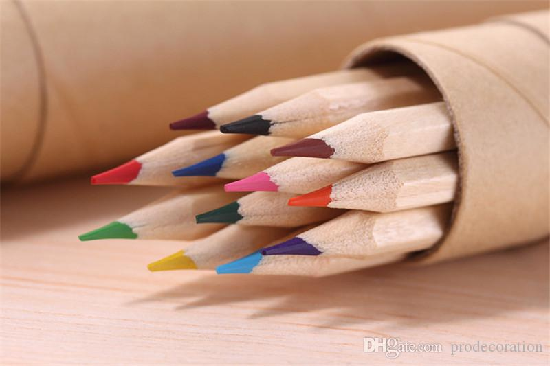 Wooden Drawing And Writing Pencil Sets Environment Friendly High Quality Children Gifts Sketching Learning Tool Hot Sale