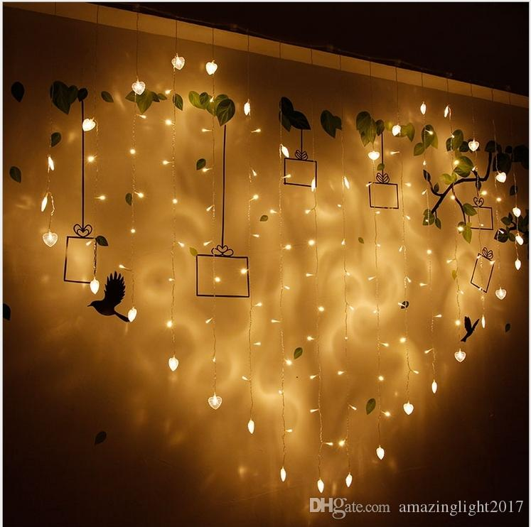 Cheap 2m 128 Leds 220v Heart Shape String Lights Fairy Décor Warm ...