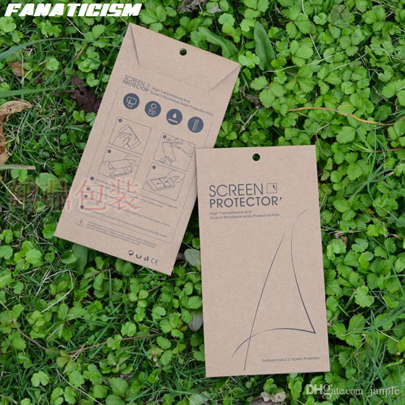 Fanaticism Universal Kraft Paper Packaging Retail Box For iphone XR X XS Max 8 7 6S Samsung S7 S6 Tempered Glass Screen Protector