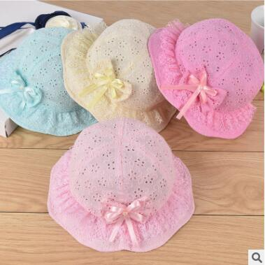 d110e0ee0d0 2019 3 18M Baby Bucket Hat Toddler Infant Newborn Breathable Lace Floral  Summer Hats Beach Bucket Flower Hat Sun Cap Boutique Clothing 271 From ...