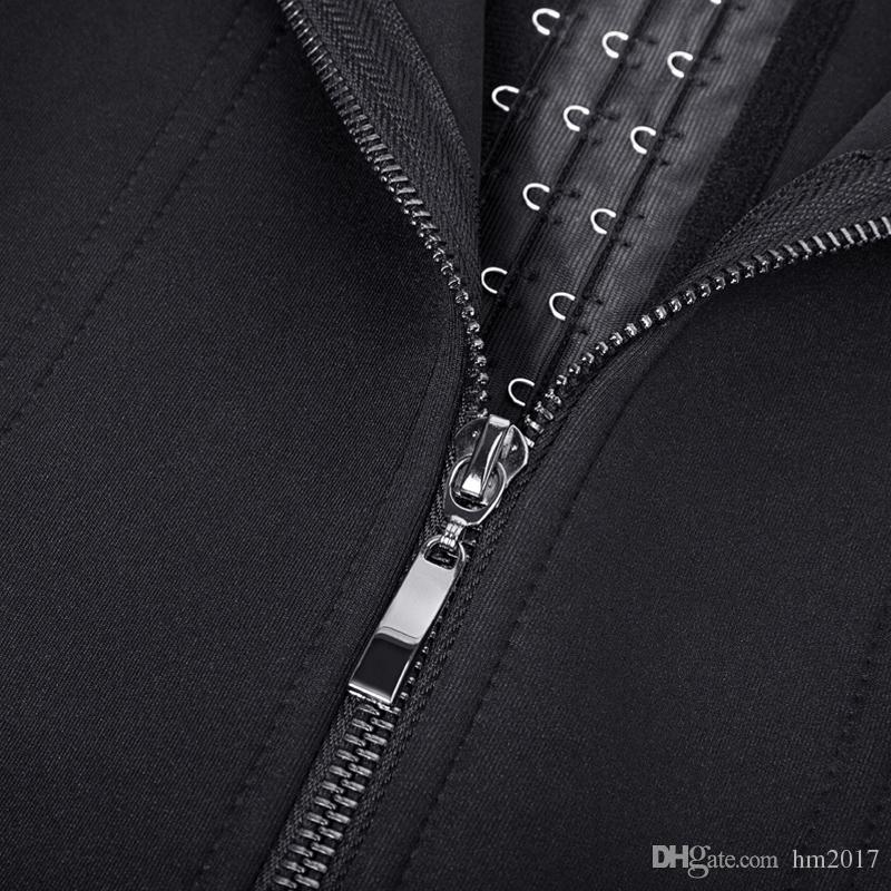 Cuerpo caliente forma Neopreno Negro Sauna Chaleco de Sudor Cintura Entrenador Adelgazar Trimmer Corsé Entrenamiento Thermo Push Up Shapewear