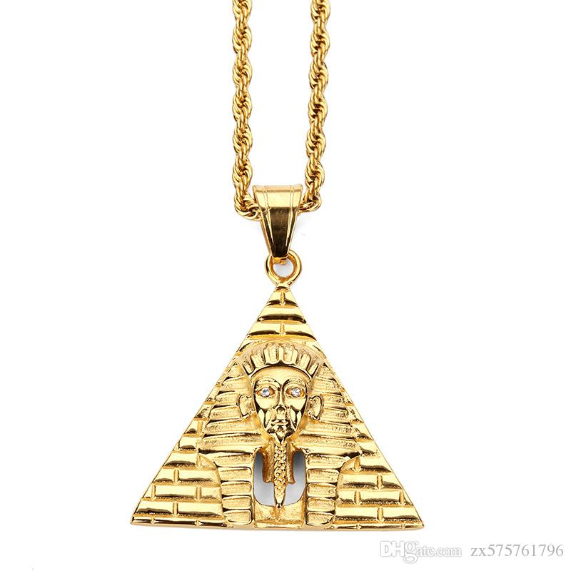 Wholesale Fashion Personalized Design Male Charms Pyramid King