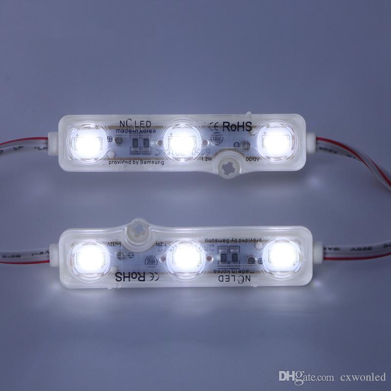 IP68 injeção Módulo LED 5630 1.5 W 3 Leds Assinar Backlights À Prova D 'Água Vermelho branco azul 12 V 60lm cada publicidade luz muito