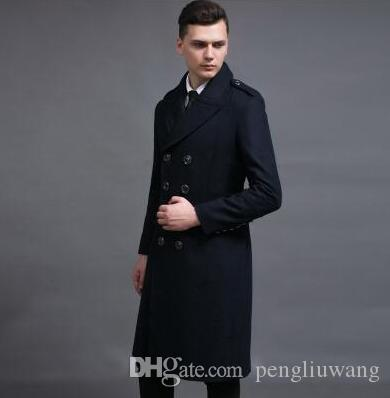 cb8b3b29f65 2019 Casual Long Wool Coat Double Breasted Overcoat Mens Cashmere Coat  Casaco Masculino Inverno Erkek Mont Sobretudo Big Size S 6XL From  Pengliuwang