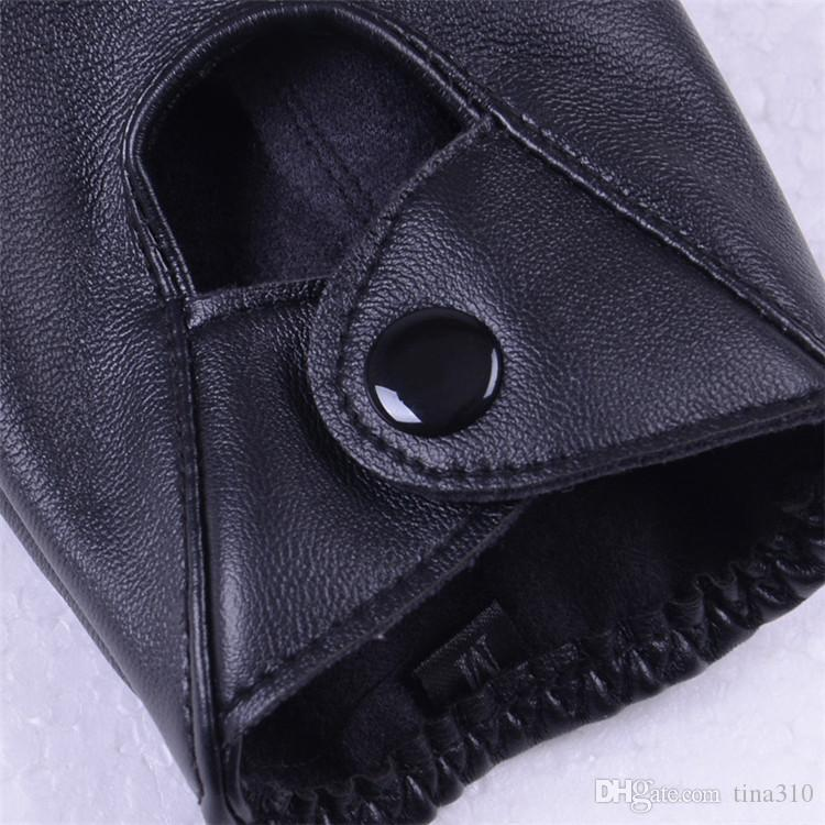 Wholesale lady sexy Modal Fashion women's exy Driving Show Pole Dance Half Finger Pu Leather Gloves Evening Sex IB433