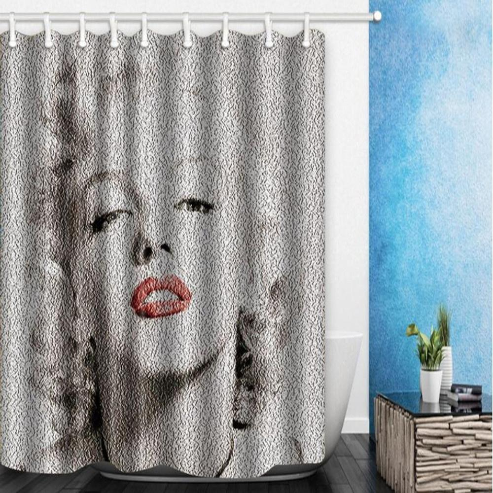 2018 Marilyn Monroe Digital Printing Shower Curtain 180180cm Quality Polyester Fabric Waterproof Mildew Resistant Bathroom Curtains With Hooks From Party8
