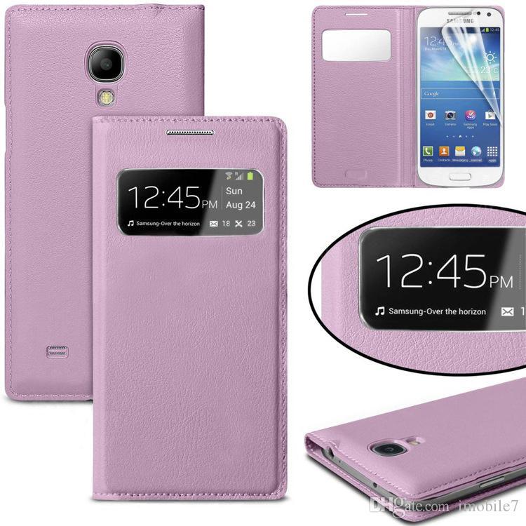 Téléphone Portable Pour Samsung Galaxy S4 Mini I9190 Mignon De Luxe En Cuir Flip ÉTUI Voir La Fenêtre Téléphone Coque Mobile AccessoriesMobile P ...