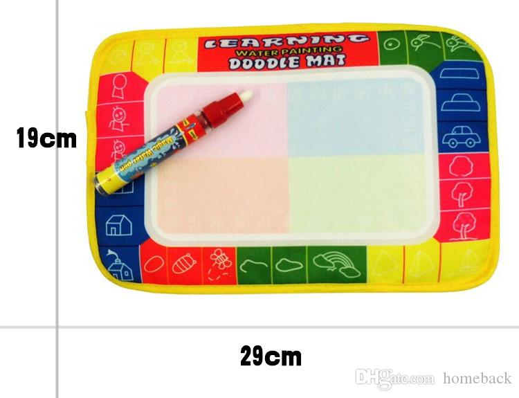 29X19cm Baby Kids Add Water With Magic Pen Doodle Painting Picture Water Drawing Mat in Drawing Toys Board Gif