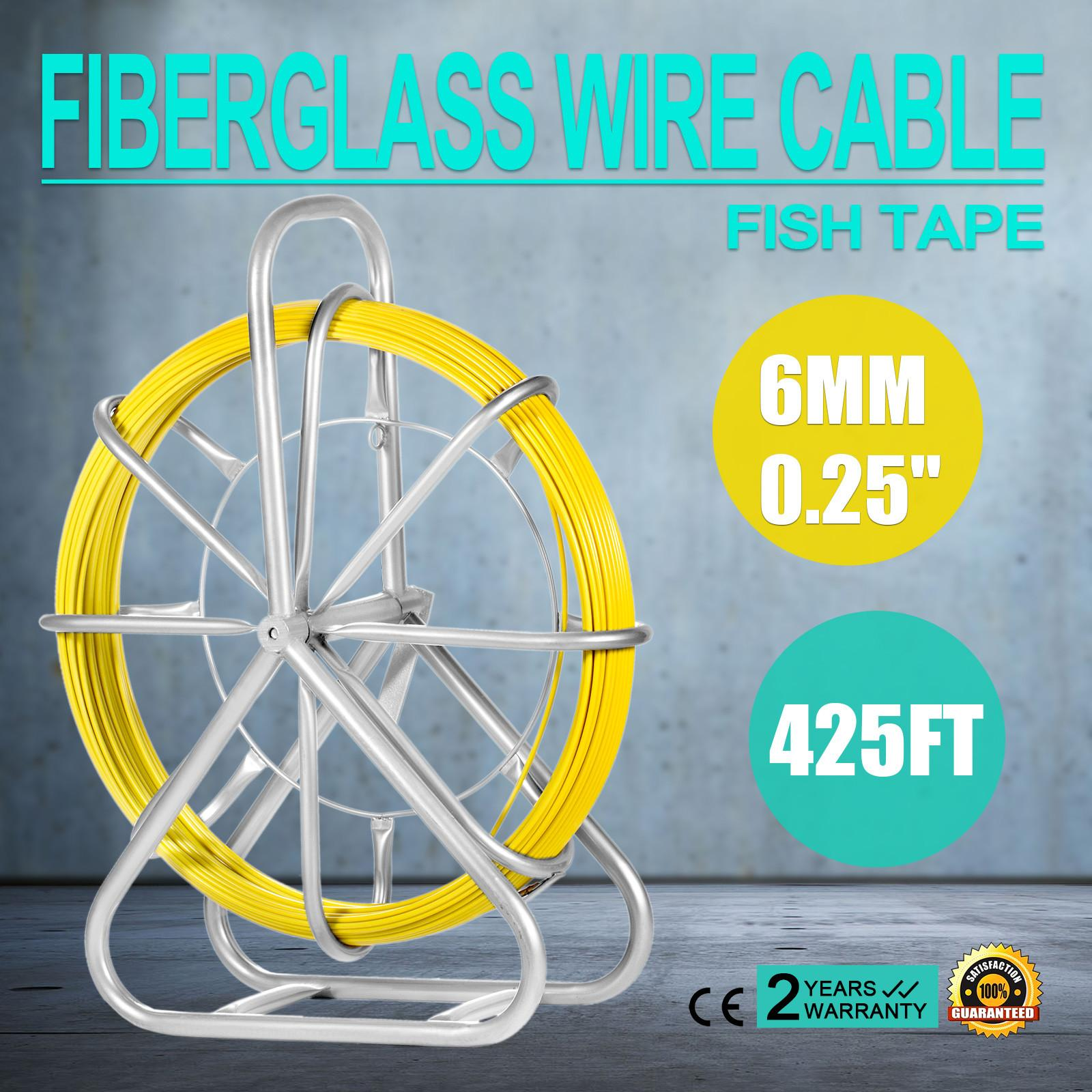Fiberglass Wire Harness Wiring Library Best Vevor Fish Tape 6mm 425ft Duct Rodder Continuous Cable Running