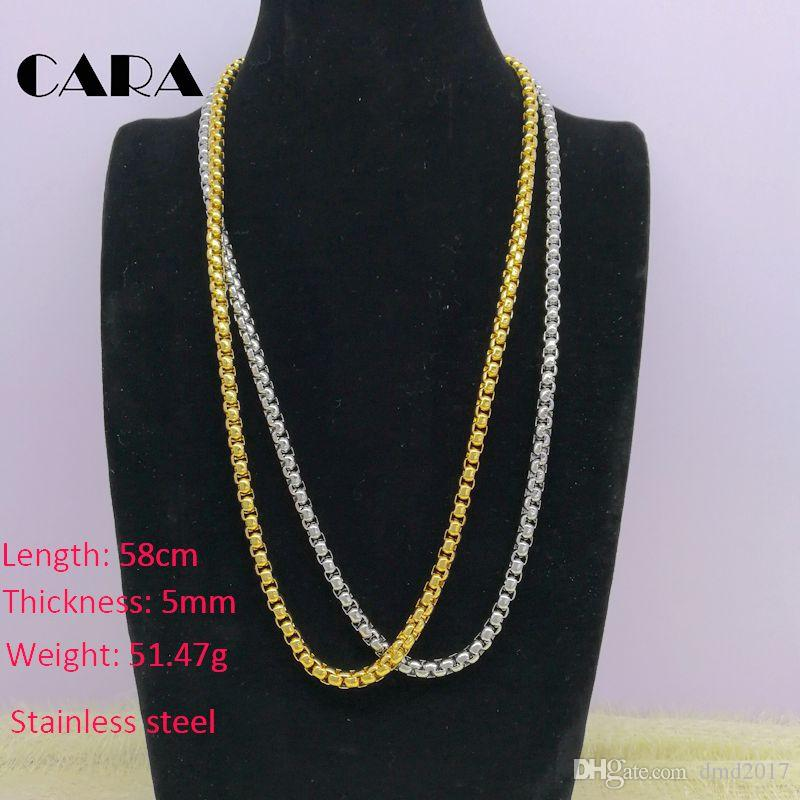 New Arrival gold plating stainless steel versatile 5mm thick popcorn chain men necklace top quality ,CARA0003