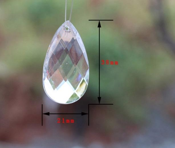 Acrylic Crystal Pendants Loose Beads For Garland Chandelier Hanging Bead Chains Wedding Decorations Event Party Different Shapes Option 1KG