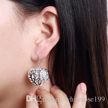 Großhandel - niedrigsten Preis Weihnachtsgeschenk 925 Sterling Silber Mode Ohrringe E075