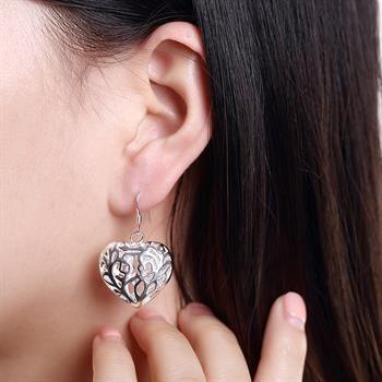 Partihandel - lägsta pris julklapp 925 sterling silver mode örhängen E075