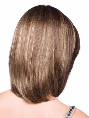Xiu Zhi Mei venda quente capless elegante elegante curto em linha reta marrom com tiras da mulher cabelo sintético perucas / peruca terno para a vida diária