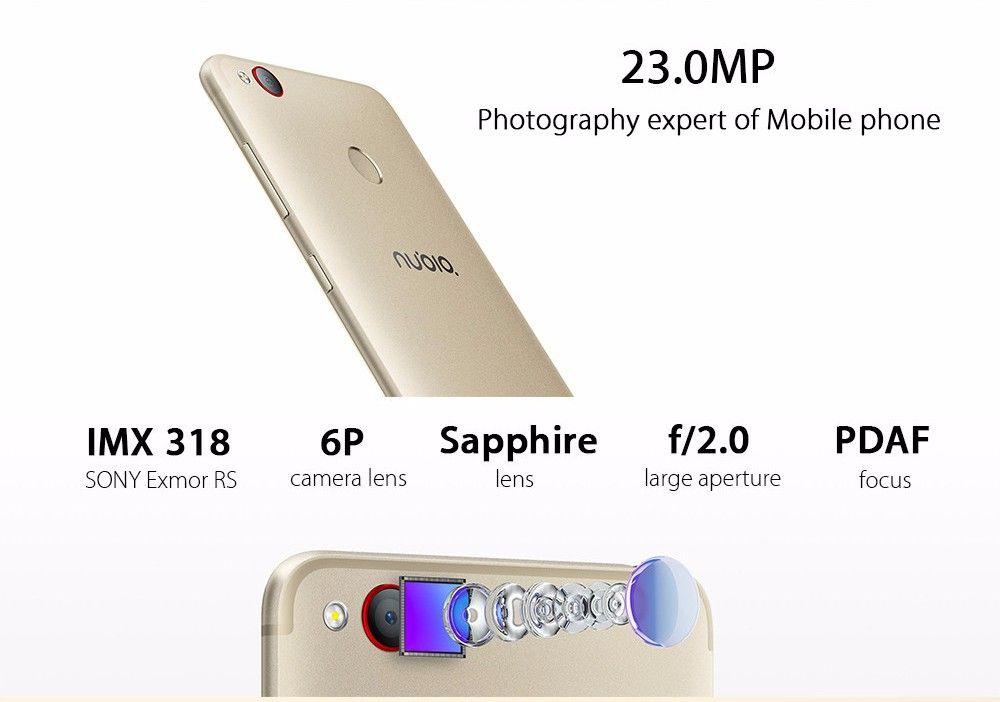 Original ZTE Nubia Z11 Mini S Cell Phone MSM8953 Octa Core 4GB RAM 64GB ROM 5.2 inch Dual SIM 23.0 MP Fingerprint ID NFC 4G LTE Mobile Phone