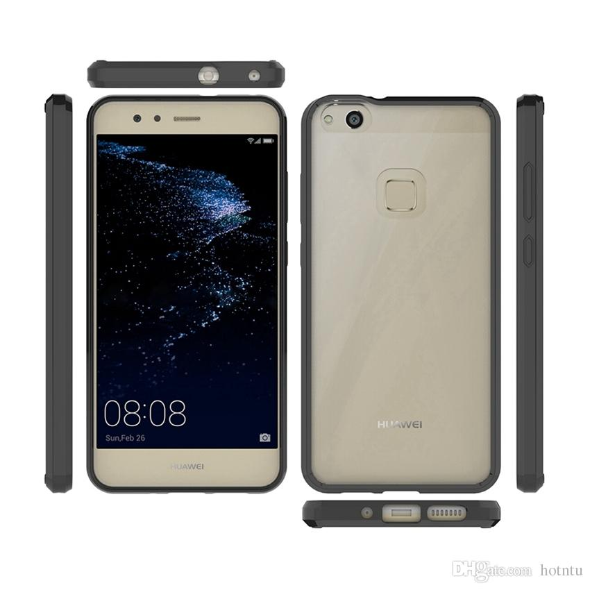For Huawei P9 Lite Case Air Cushion Tech Soft TPU Bumper Clear Back Cover Hybrid Armor Phone Cases For Huawei P10 Lite Plus