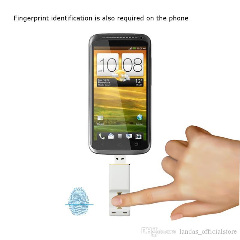 Fingerprint Sliding Unlock USB Flash Drive 2.0 OTG Pen Drive for Android Smart Phone Flash Memory Stick Pendrive U disk