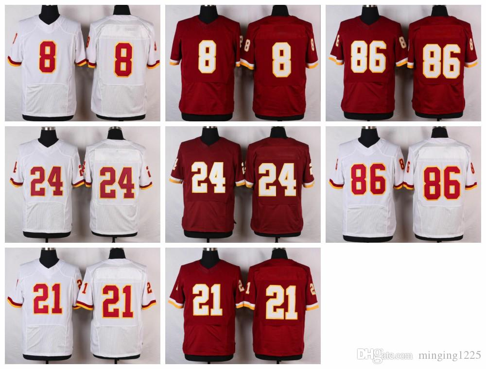4b86627b9e1 ... Burgundy Red Team Color With 80TH Patch Mens Stitched NFL redskins  vernon davis white game jersey new 2017 mens elite 8 kirk cousins 11 desean  jackson ...