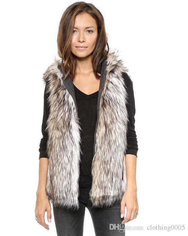 Fur Hood Vest