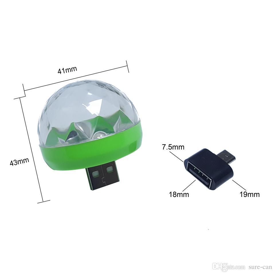 3w DC 5V Mini RGB USB LED-Nachtlicht Bühne / Mikrofon / LED-Lampe Weihnachtslicht-Projektor Parteidekor LED-Lampe