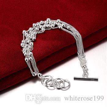 Wholesale  - 小売価格最低価格クリスマスプレゼント、送料無料、新しい925シルバーファッションブレスレットYB101
