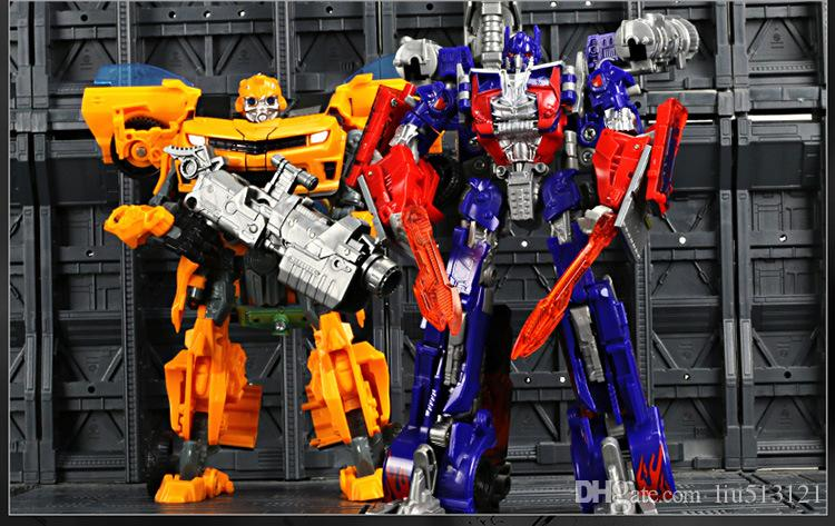 Educational Toy for boys Transformer Toys Robot Puzzle Children new model toy Christmas gift Yellow color toys for over 3 years kids