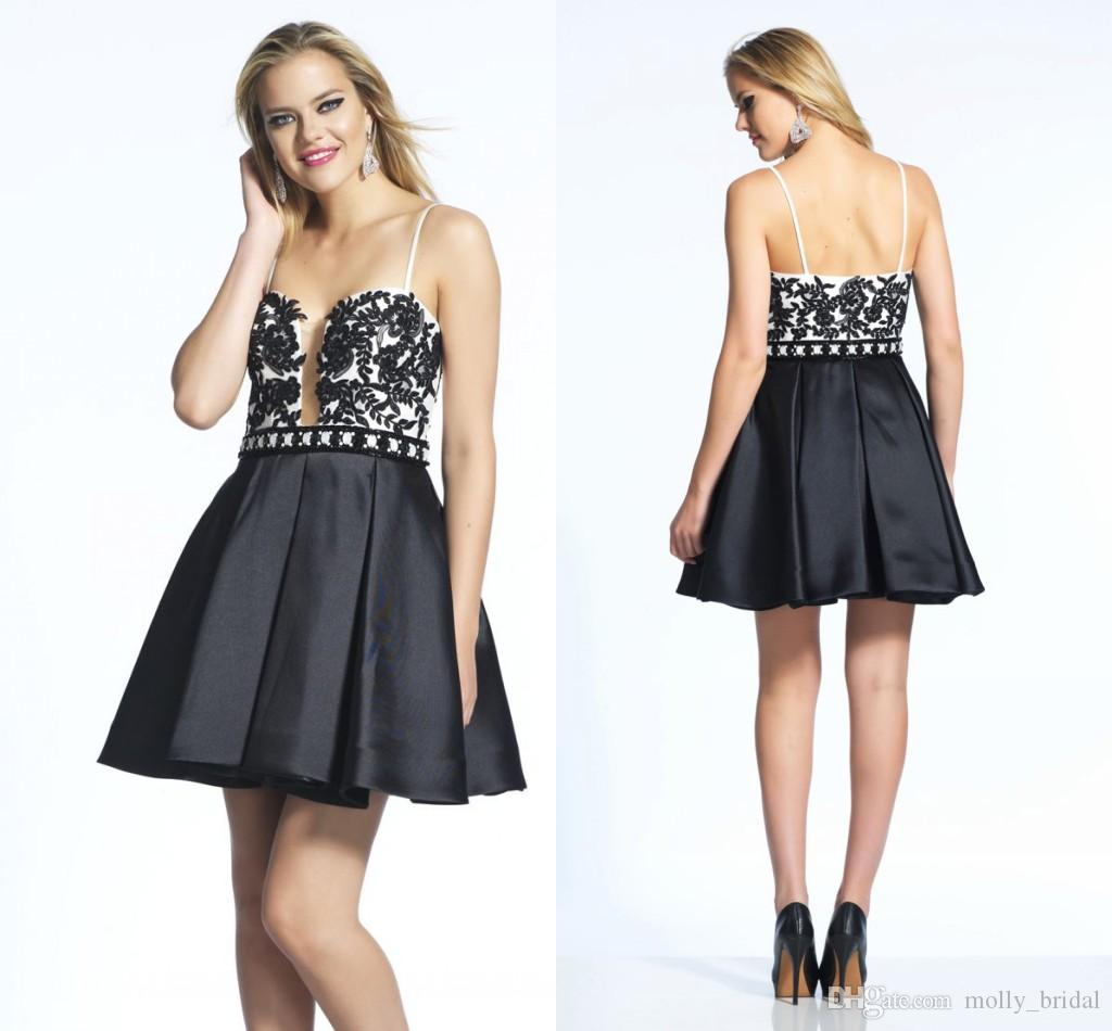 Homecoming Dressed Spaghettis Sexy Juniors Prom Dresses Cheap Price ...