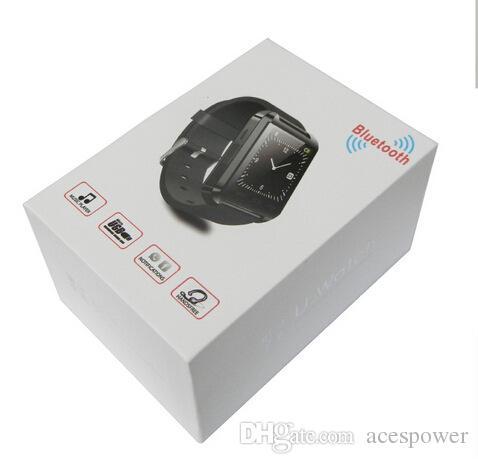 Inteligente relojes inteligentes reloj de pulsera para U8 U SmartWatch de Sony Samsung Huawei Android Móviles buena con Paquete