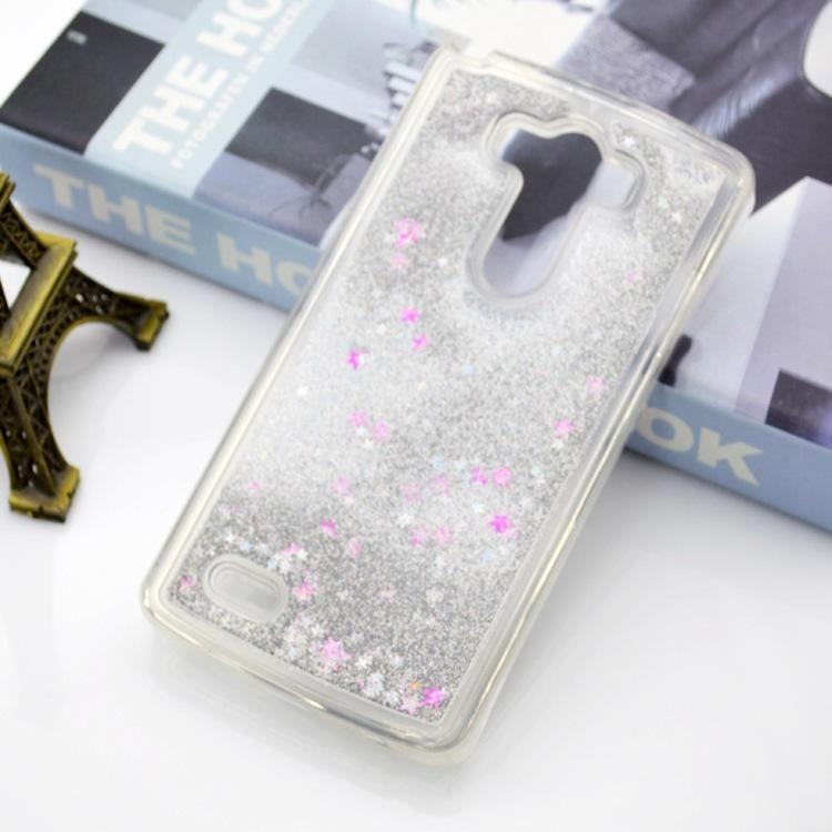 sale retailer 65beb 3c48d Floating Star Bling TPU Liquid Glitter Case for LG Stylo 2 X Power Tribute  HD K10 Alcatel Fierce4 Stellar tru ZTE ZMAX Pro Huawei P8 P9 Lite