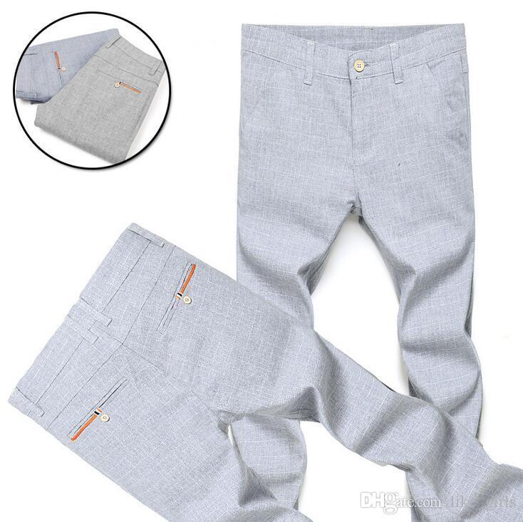 Nouvelle arrivée Section printemps et été de neuf jeunes hommes occasionnels Slim pantalons 9 points marée PM018 Pantalons pour hommes