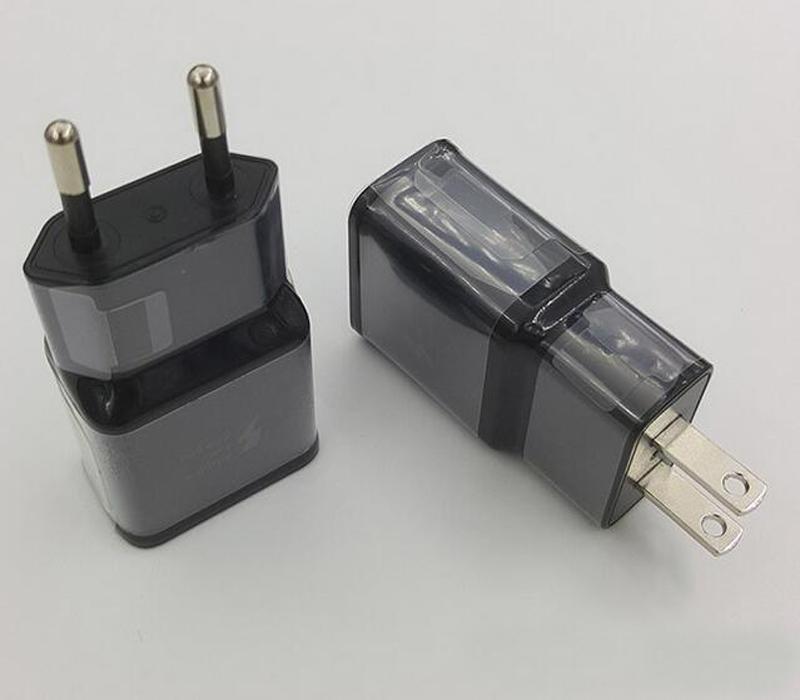 Cargador rápido + 1.2M Tipo-C Cable de datos USB Adaptador de cargador de pared de viaje 9V 1.67A Para S8 S8 plus con el logotipo