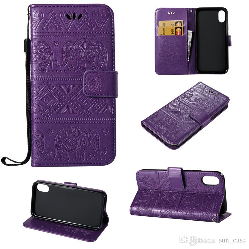 Elephant Skin Cover For Samsung Galaxy J1 J2 J3 J5 J7Prime Note 3 A3 A5 S3 i9190 S4 PU Leather Stand Wallet With Rope Card Slots Cases