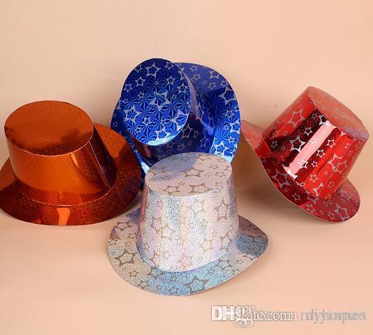 3c331c1d0d406 Compre Moda Mágica Papel Caballero Bling Cap Creativo Cumpleaños Sombrero  Encantador Sombrero De Navidad Sombreros De Fiesta Decoración Del Partido  ...