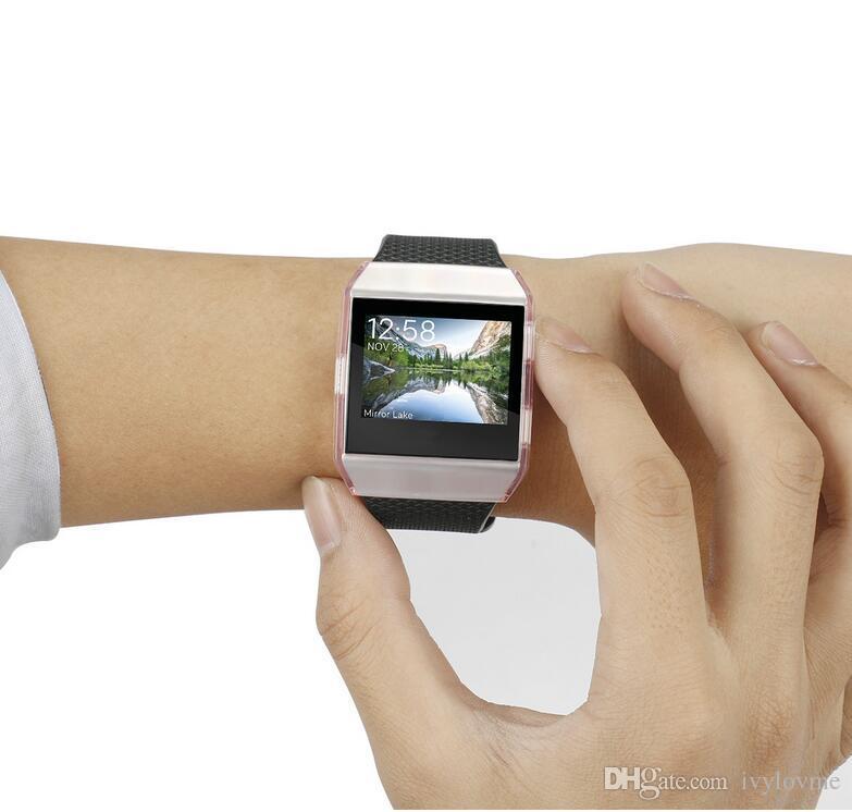 Замена ультра-тонкий ТПУ защитить чехол для Fitbit ионные смарт-часы