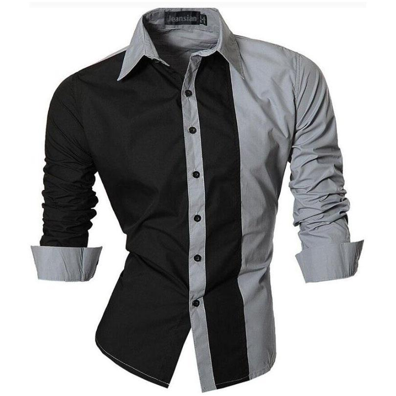 2017 Fashion Men Shirt Nice Brand Shirts Men Casual Male Slim Fit ...