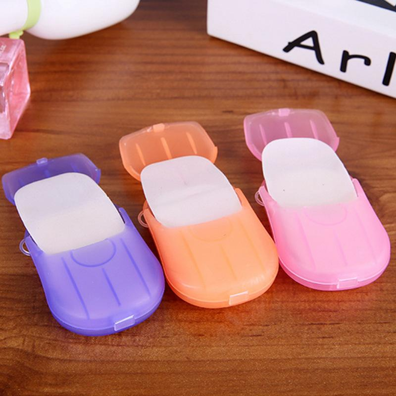 20 Sheet/Box Travel Camping Portable Anti-Bacterial Clean Paper Soap Slice washing Popular Items multi-purpose mix colors Sale