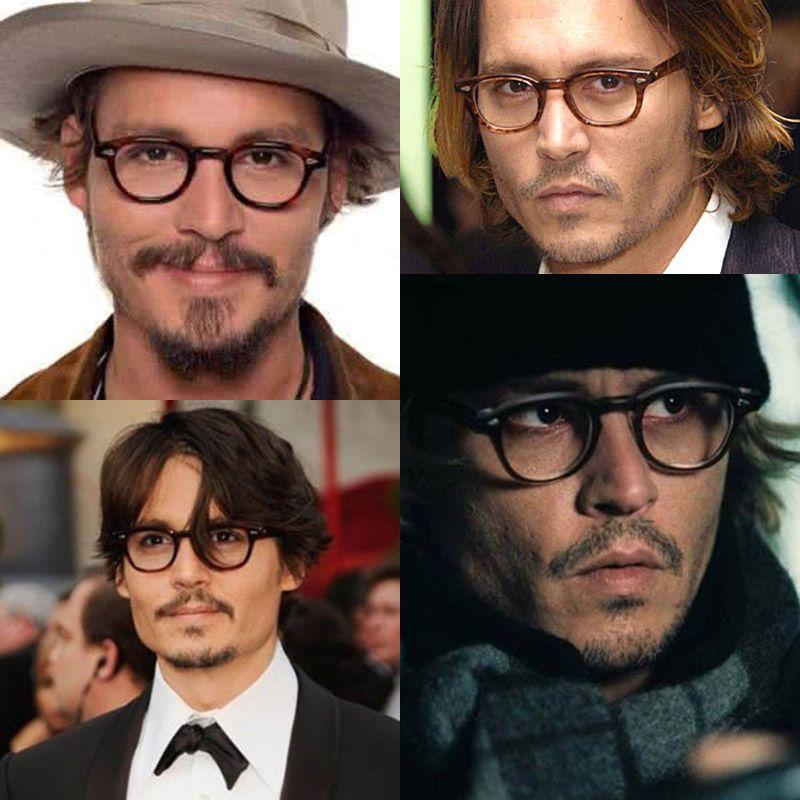 47f3fe5b58e Myhmzcycle Johnny Depp best love Sunglasses 2017 vintage Rivets Eyeglasses  women man brand Design glasses retro. Acquista Johnny Depp Superstar  Occhiali Da ...