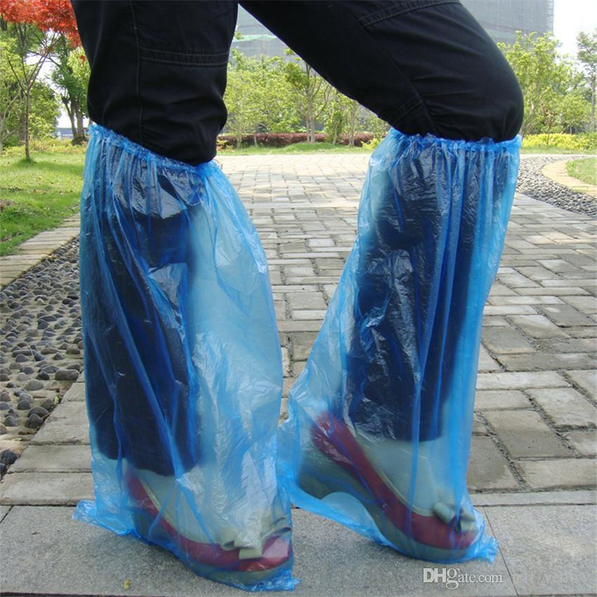 Spedizione gratuita Homehold Office Ispessimento Copriscarpe monouso in plastica 100 impermeabile antipolvere copertura Home Shoe copertura di scarpe da pioggia