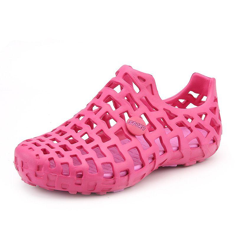 Nuovi uomini sandali casuali di plastica di modo Donna Sandali estate Scarpe spiaggia scarpe d'acqua le donne degli uomini di buona qualità Pantofole