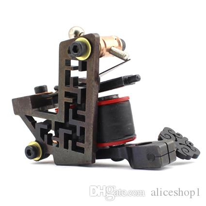 Wholesale Professional Handmade Tattoo Machine 10 Wrap Coils Iron ...