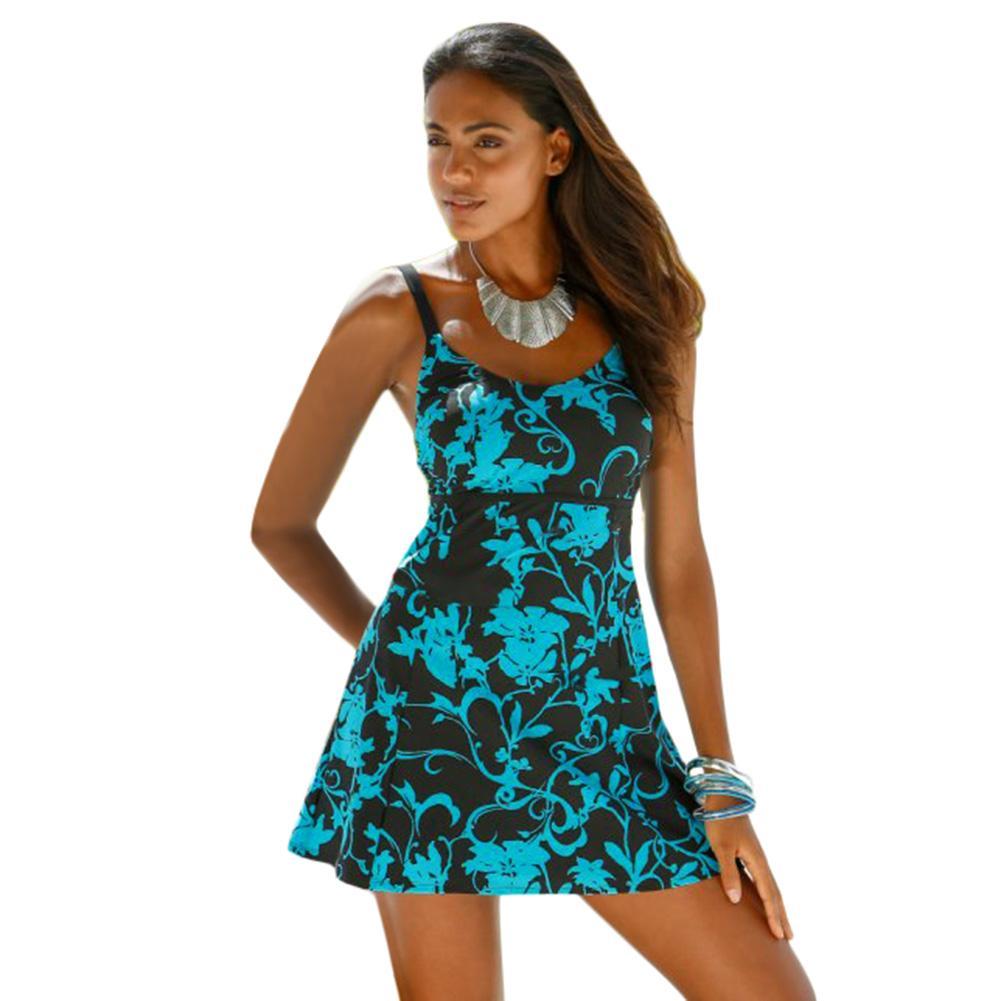 7fbea991b50 2019 Plus Size Swimwear 2017 Extra Large Tankini Push Up Trikini Big Bikini  Set Women Beach Dress Print Swimsuit Vintaup Beach Wear Drop Shipping From  ...