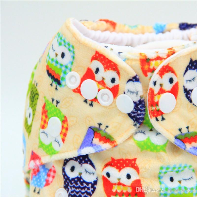 Baby Diaper Nappy Pants Infant Boy Girl Cloth Diapers Adjustable Organic Printed Cartoon Washable Waterproof Reusable