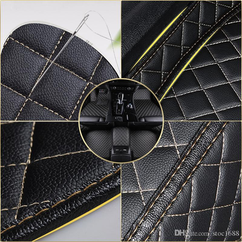 SCOT Leather Car Floor Mats Floor Liners for Acura TLX 2014-2016 ,All Weather Waterproof Custom Fit Carpets
