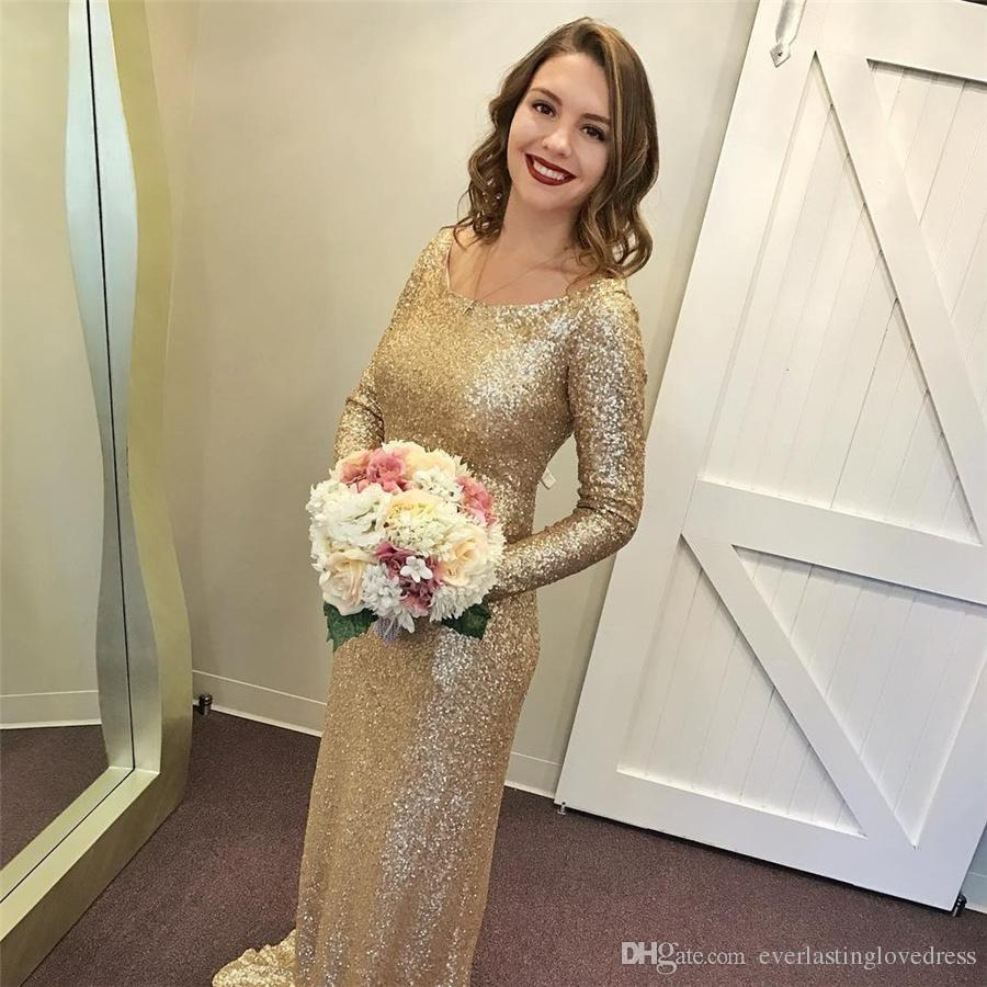 To acquire Wedding Gold dresses with sleeves pictures picture trends