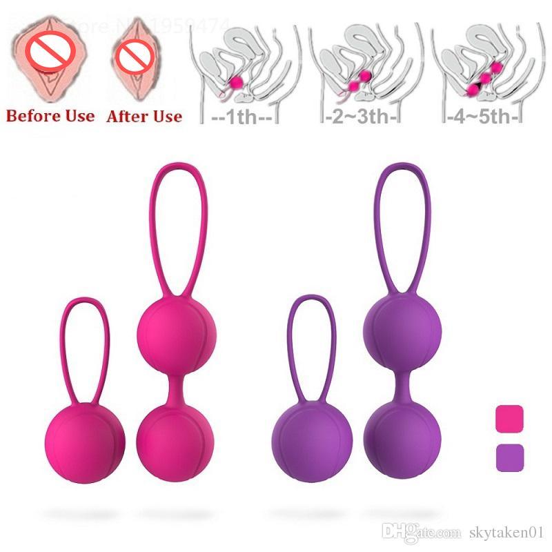 Compre Rosa Peurple Color Silicona Kegel Ball Musculos Vaginales Ejercitador Producto De Sexo Femenino Para Las Mujeres 40 G Pcs A Prueba De Agua A