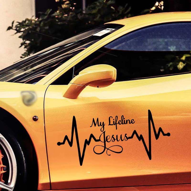 My Lifeline Jesus Decal Sticker Christian Dio Religioso Car Car Styling Jdm Car Window Truck Accessori in vinile Decorare